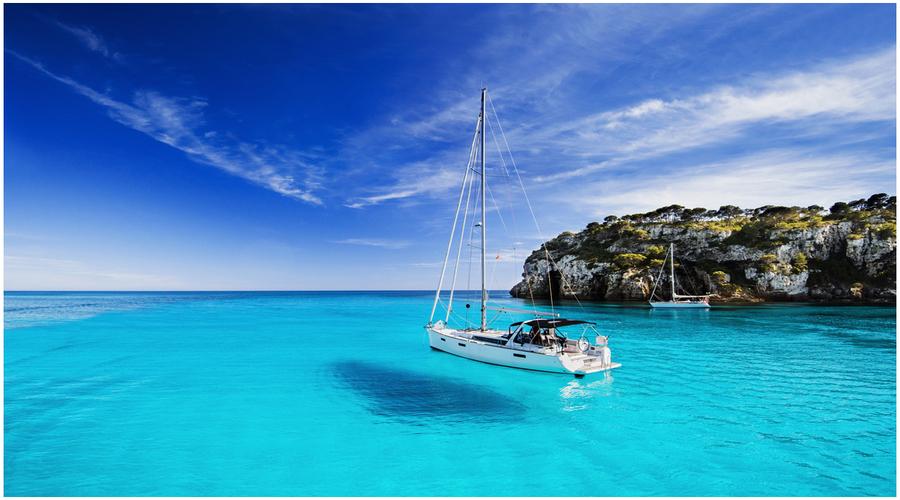 Eau turquoise Location bateau Minorque