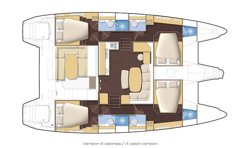 Lagoon-catamaran Lagoon 420 Layout 1