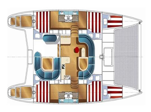 Nautitech-catamaran Nautitech 44 Layout 1