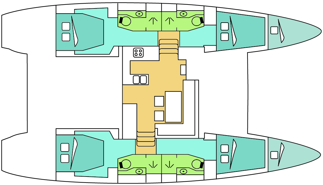 Lagooncatamaranlagoon on Lagoon 400 Layout