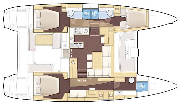 Lagoon-catamaran Lagoon 450 Layout 1