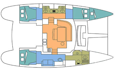 Lagoon-catamaran Lagoon 440 Layout 1