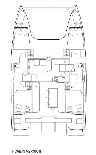 Nautitech-catamaran Nautitech 40 Layout 1