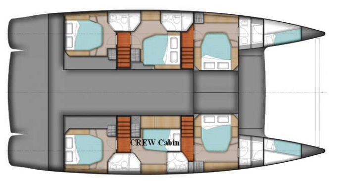 Fountaine-pajot Sanya 57 Layout 1