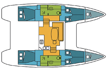 Lagoon-catamaran Lagoon 400 Layout 1