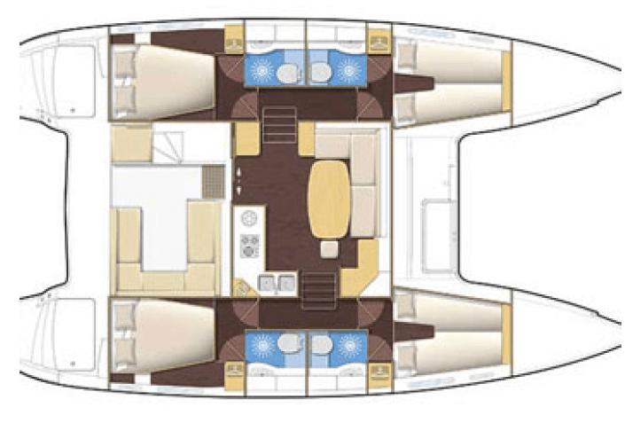 Lagoon-catamaran Lagoon 400 Layout 0