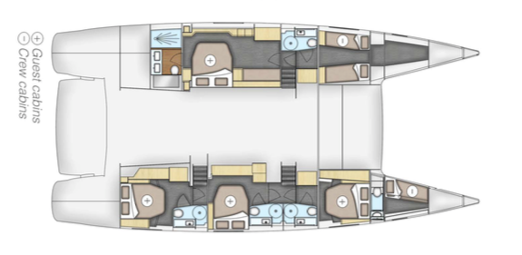 Fountaine-pajot Victoria 67 Layout 0