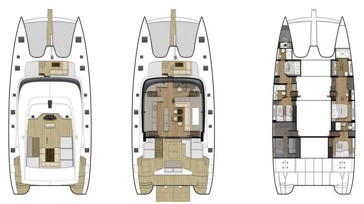 Sunreef-catamaran Sail 74 Layout 1
