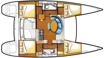 Lagoon-catamaran Lagoon 380 Layout 1