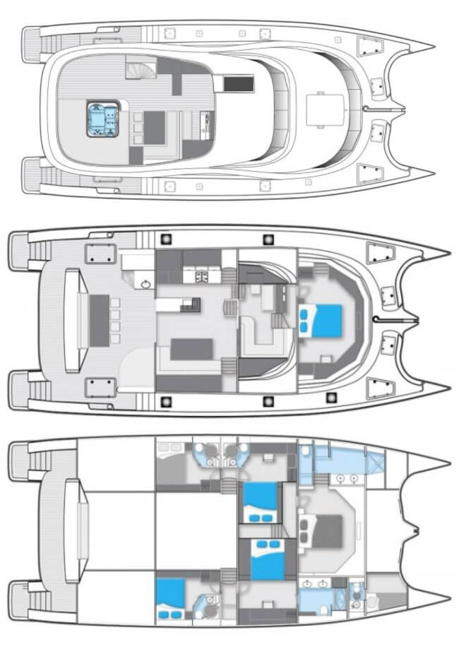 Sunreef-catamaran Power 70 Layout 1
