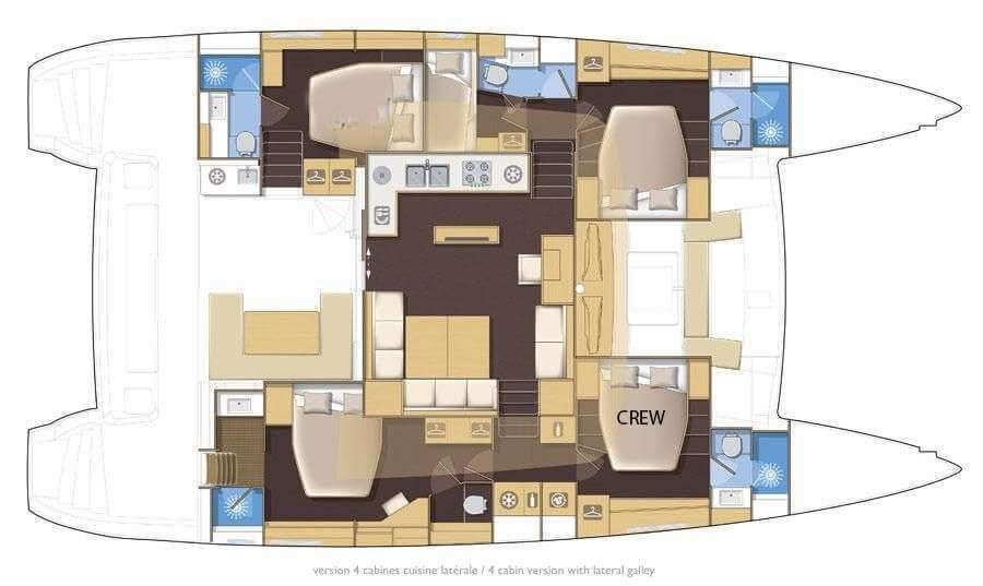 Lagoon-catamaran Lagoon 560 Layout 1