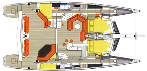 Diamante Catamaran 555 Layout 1