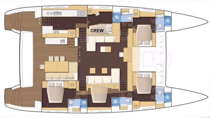 Lagoon-catamaran Lagoon 620 Layout 1