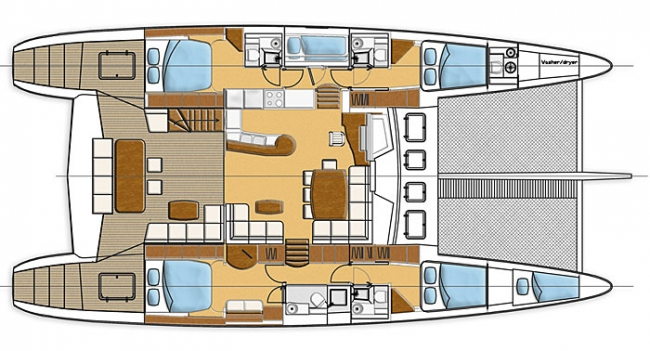 Sunreef-catamaran Sail 62 Layout 1