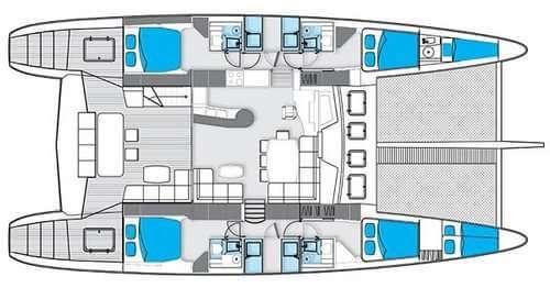Sunreef-catamaran Sail 62 Layout 1