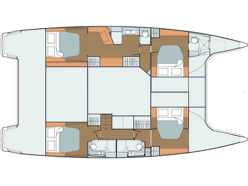 Fountaine-pajot Saba 50 Layout 0