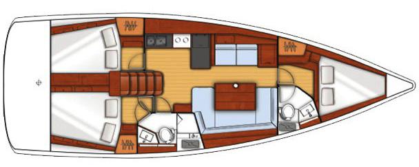 Beneteau Oceanis 41 Layout 1