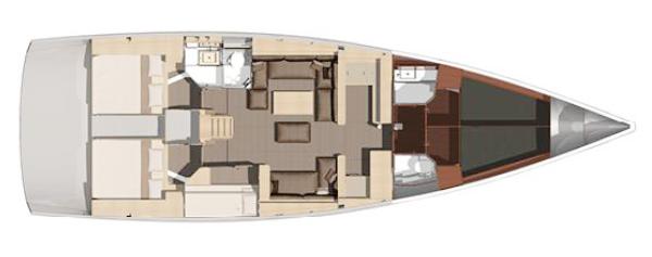 Dufour-yachts Dufour 560 Layout 4