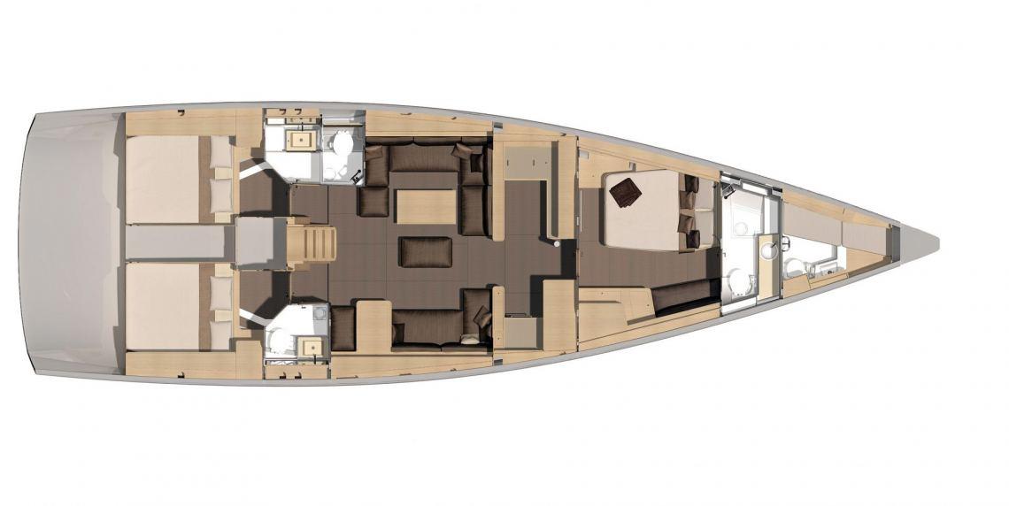 Dufour-yachts Dufour 560 Layout 1