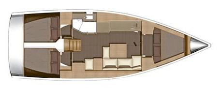 Dufour-yachts Dufour 382 Layout 1