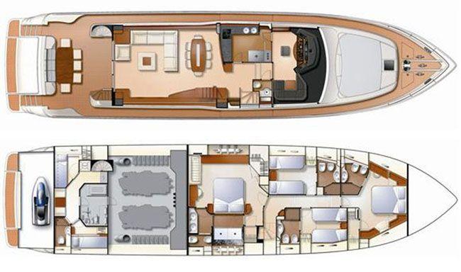 Ferretti Yacht 830 Layout 1