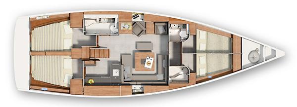 Hanse-yachts Hanse 455 Layout 1