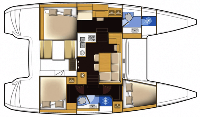 Lagoon-catamaran Lagoonmotoryacht 40 Layout 1