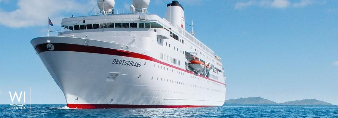 MS Deutschland Howaldtswerke Cruise ship 175M Exterior 1