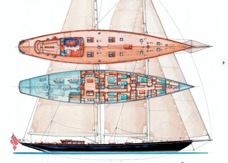 Holland-jachtbouw Schooner 42m Layout 1