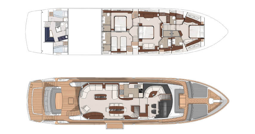 Sunseeker Yacht 28m Layout 1