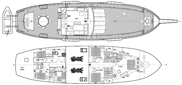 Custom Schooner 28m Layout 1