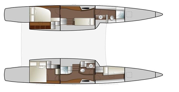 Outremer-catamaran Outremer 49 Layout 1