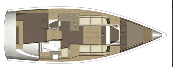 Dufour-yachts Dufour 350 Layout 1