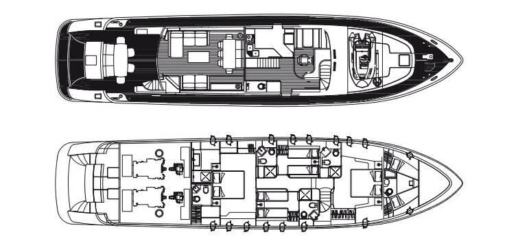 Maiora Yacht 28m Layout 1