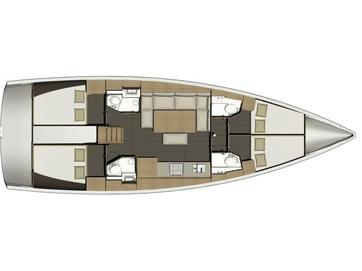 Dufour-yachts Dufour 460 Layout 1