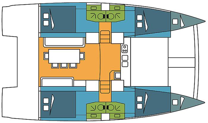 Catana-catamaran Bali 40 Layout 1