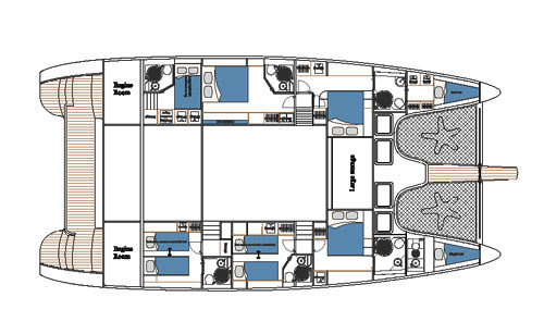 Sunreef-catamaran Sail 70 Layout 1