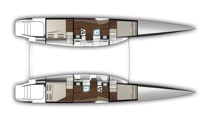Outremer-catamaran Outremer 5x Layout 1