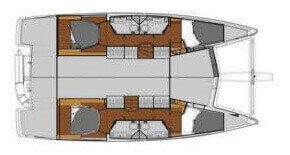 Fountaine-pajot Lucia 40 Layout 1