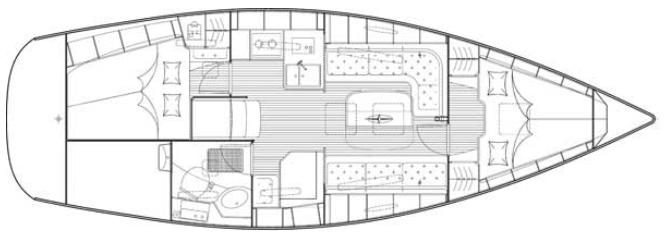 Bavaria-yachts Bavaria 34 Layout 0