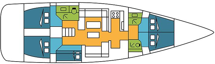 Dufour-yachts Dufour 512 Layout 1