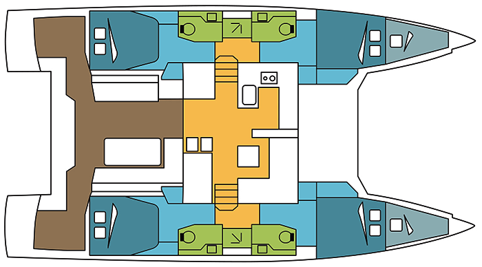 Nautitech-catamaran Nautitech 46open Layout 1