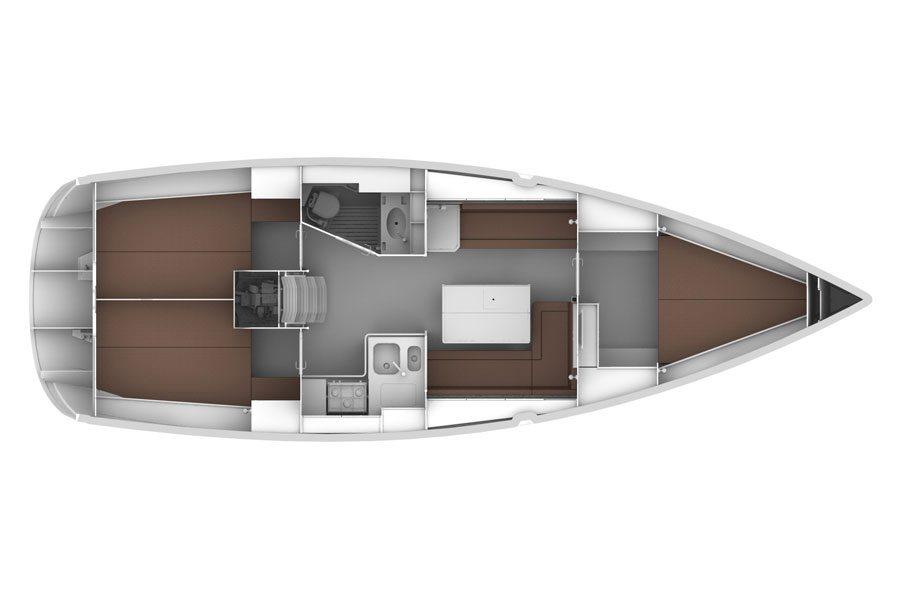 Bavaria-yachts Bavaria 36 Layout 1