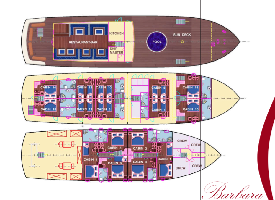 Custom Motorsailer 41m Layout 1