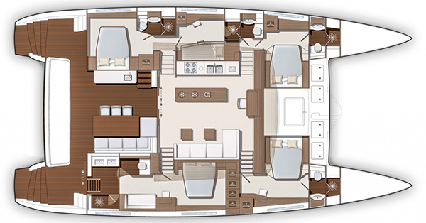 Lagoon-catamaran Power 630 Layout 1