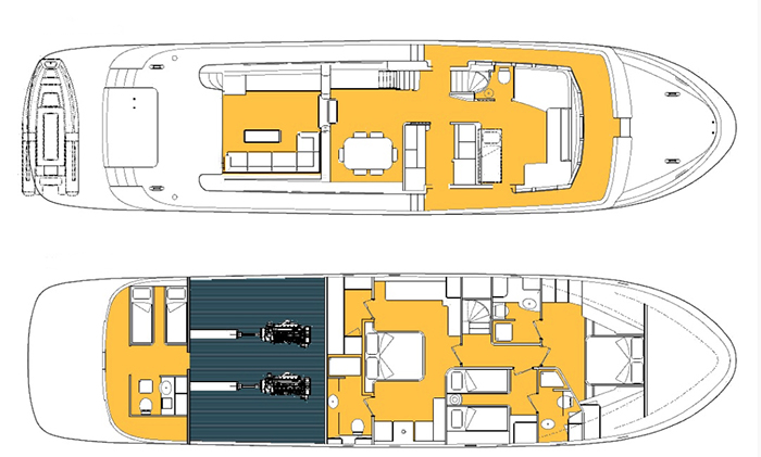 Custom Motoryacht 23m Layout 1