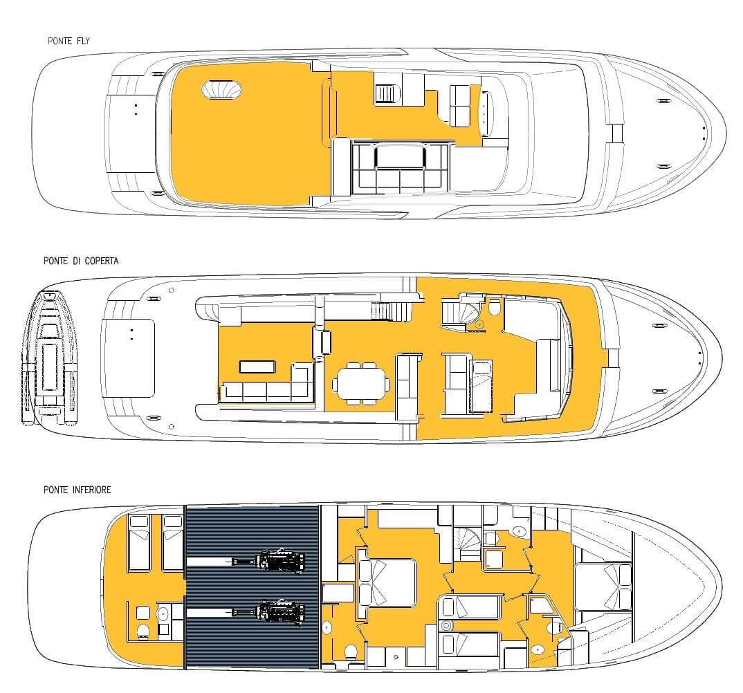 Custom Motoryacht 23m Layout 1