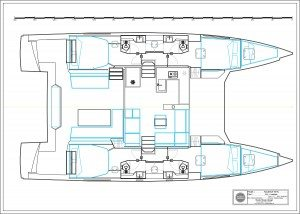 Nautitech-catamaran Nautitech 46fly Layout 1