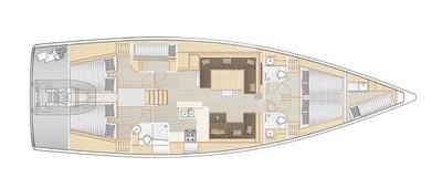 Hanse-yachts Hanse 588 Layout 0