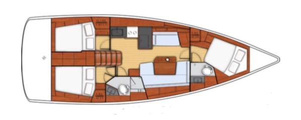 Beneteau Oceanis 411 Layout 1